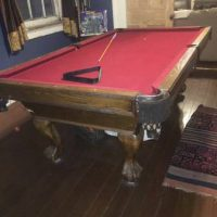 Custom Single Slate Wood Pool Pable And Ping Pong Table