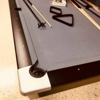 Complete Billiards Set-Pool Table w Que Sticks and Accessories