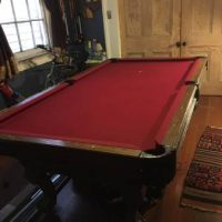 Custom Single Slate Wood Pool Table and Ping Pong Table