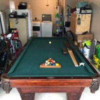 Authentic American Brunswick Trade mark 1845 Pool Table